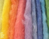 THIS ITEM IS RESERVED TO LETTYCUBE-3.85oz Hand painted hand dyed Shetland wool with ecologic colors for needle felt and soft sculpture
