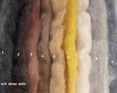THIS ITEM IS RESERVED TO LETTYCUBE-3.85z mix package of coarse wool in 9 shades of animals and hair colors proper for wet feltinf and needle felt.