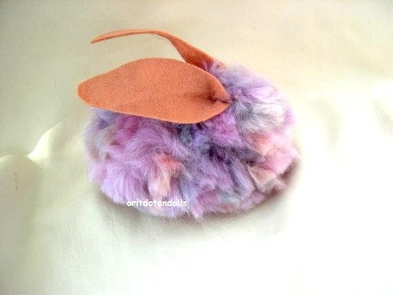 Bunny made wool,  eco paints with pure felt