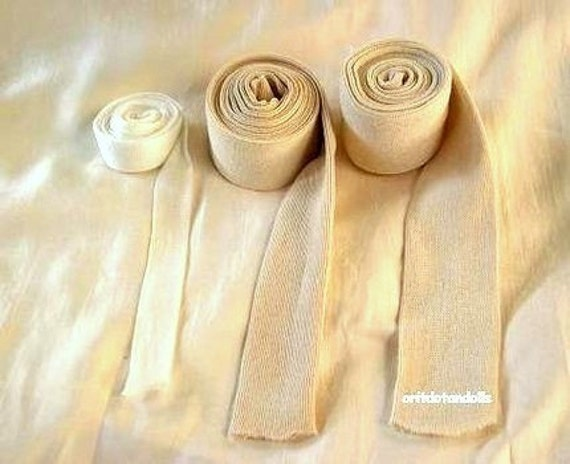 Doll's cotton tubing for crafting inner doll's head, suitable for Waldorf dolls-3 kinds, made in Israel