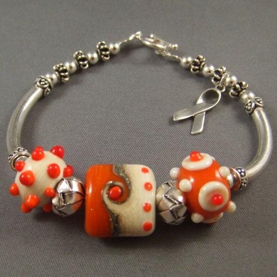 leukemia awareness bracelet with lwork and bali and