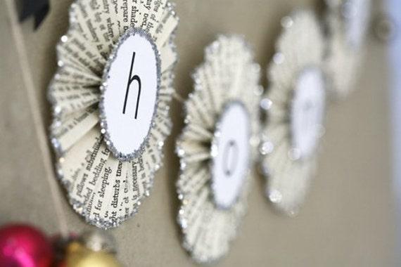 home . paper glitter garland