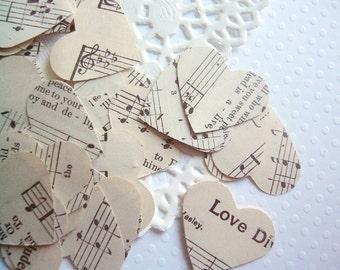 Vintage Wedding Decor - Hymnal Sheet Music Heart Confetti - wedding favors wedding decoration