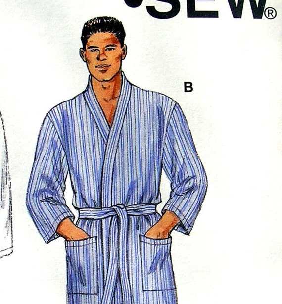 mens flannel or terry cloth robes sizes s xxl uncut kwik. Black Bedroom Furniture Sets. Home Design Ideas