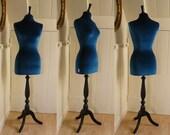 Luxury Velvet Mannequin Dressform COVER ONLY - Teal