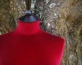 Display Mannequin Home Decor Female Mannequin Dress Form Velvet - RED
