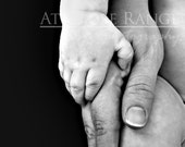 Love and Trust II baby hands nursery wall art print, photograph