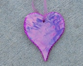 Small Hand Painted Ceramic Heart by 3 yr. old Artist with Autism Siobhan Forrester