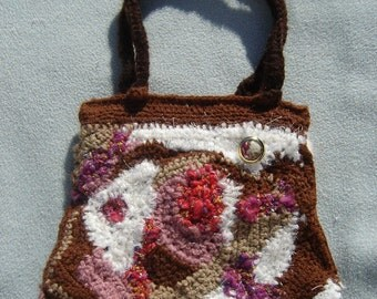 Freeform Crochet Purse FREE SHIPPING WORLWIDE