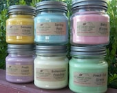 4 SOY CANDLES - Your CHOICE - Vanilla, Cinnamon, Apple, Pumpkin, Fresh, Clean, Citrus, Floral, Fruit, Spice, Herbal