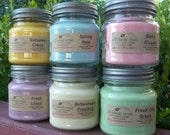 6 SOY CANDLES - Highly Scented - Vanilla, Cinnamon, Fresh, Clean, Floral, Fruit, Spice, Herbal