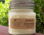 ISLAND COCONUT SOY Candle - Coconut Milk - Coconut Candles - Summer Candles - Spring Candles - Soy Candles - Coconut Meat