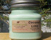 COCONUT LIME SOY Candle - Highly Scented