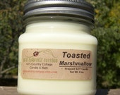 TOASTED MARSHMALLOW SOY Candle - Vanilla - Highly Scented