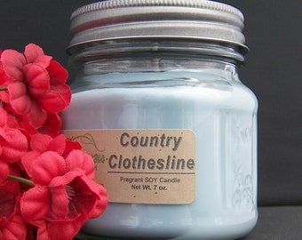 COUNTRY CLOTHESLINE SOY Candle - Highly Scented