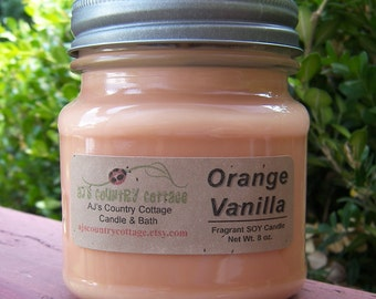 ORANGE VANILLA SOY Candle - Highly Scented