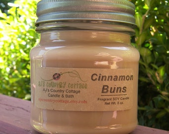 CINNAMON BUNS SOY Candle - Highly Scented