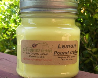 LEMON POUND CAKE Soy Candle - Highly Scented