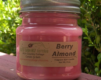 BERRY ALMOND SOY Candle - Highly Scented