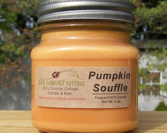 PUMPKIN SOUFFLE SOY Candle - Highly Scented