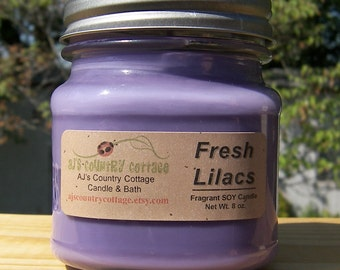 FRESH LILAC SOY Candle - Highly Scented - Flowers