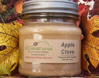 APPLE CLOVE SOY Candle - Highly Scented - Spice Spicy