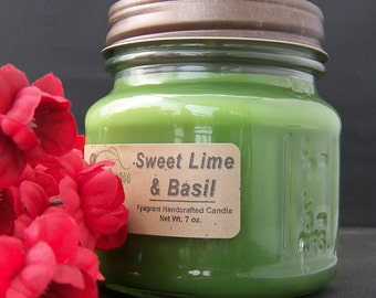 SWEET LIME BASIL Candle - Strong
