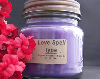 LOVE SPELL type CANDLE - Strong