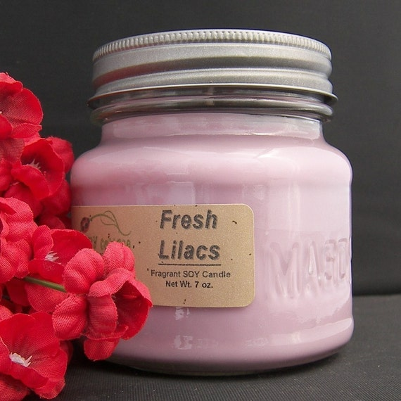 FRESH LILAC SOY CANDLE - HIGHLY SCENTED - AJ's Country Cottage