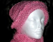 Cotton Candy Hat and Scarf Set