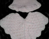 Soft Pink Baby Poncho and Hat