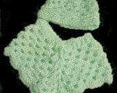 Baby, babies, poncho, hat, crochet, toddlers, green, clothing, girls