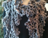 Scarves, Crochet,Gray,Women's accessories, Girls' Fashions,  pinned by pin4etsy.com