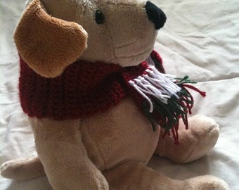 Dogs, Dog Scarf, Scarf, Christmas, Red, White, Green, Doggy Scarf, Pets, Dog Clothing