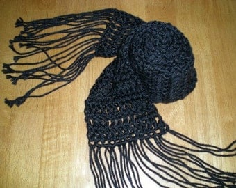 Scarf, scarves, crochet, accessories, unisex
