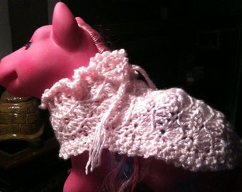 Toy pony, blanket, crochet, pink, toy