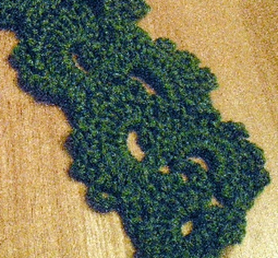 Scarves, Scarf, Queen Anne Lace scarf, accessories, crochet, women's fashions, clothing, green, girls fashions, neckwear