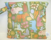 Small Wet Bag 11 X 11 - 2D Zoo Sage