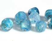 Aquatics. Handmade Lampwork Organic Beads, SRA