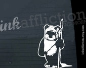 ON SALE - Ewok Wicket Car Decal - SMALL - 6inch