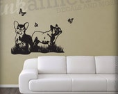 Frenchie Fields Wall Decal 25 x 18- FREE SHIPPING