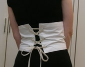 Basic White Waist Cincher sized to order RESERVED  for Saffron