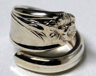 Spoon Ring Daffodil Silver Size 8