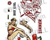 Cherry Bomb Rubber Stamp Set