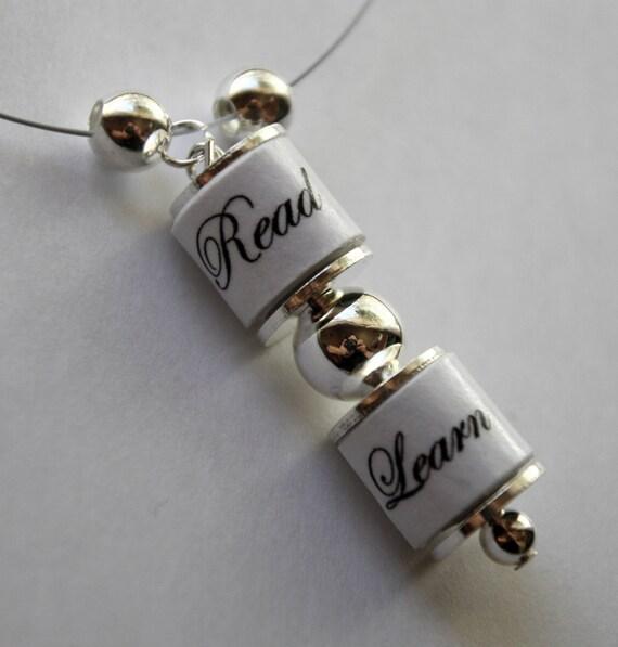 Read Learn Necklace - SALE
