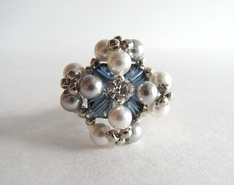 Pearl Cross Ring Tutorial TWR029