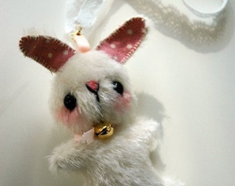 mini Japanese anime teddy bunny keyring - OOAK artist bear and friends pattern and by Jenny Lee of jennylovesbenny bears PDF