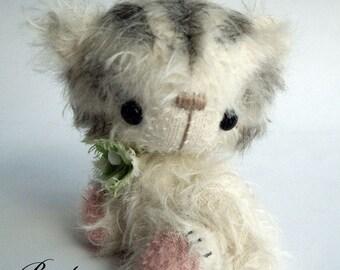kitten BOOTS - OOAK artist bear and friends pattern and kit by Jenny Lee of jennylovesbenny bears
