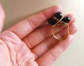 Onyx trio ring