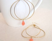 Chic and Unique Hoops with Salmon Coral